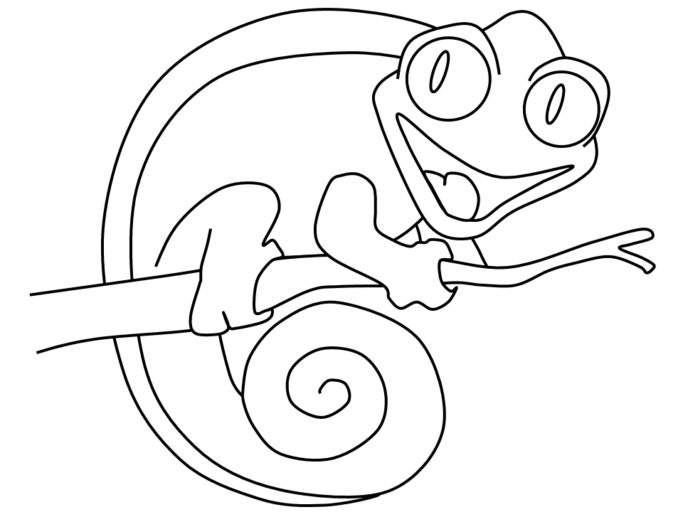 chameleon pens coloring pages | Chameleon Coloring Lesson | Kids Coloring Page – Coloring ...