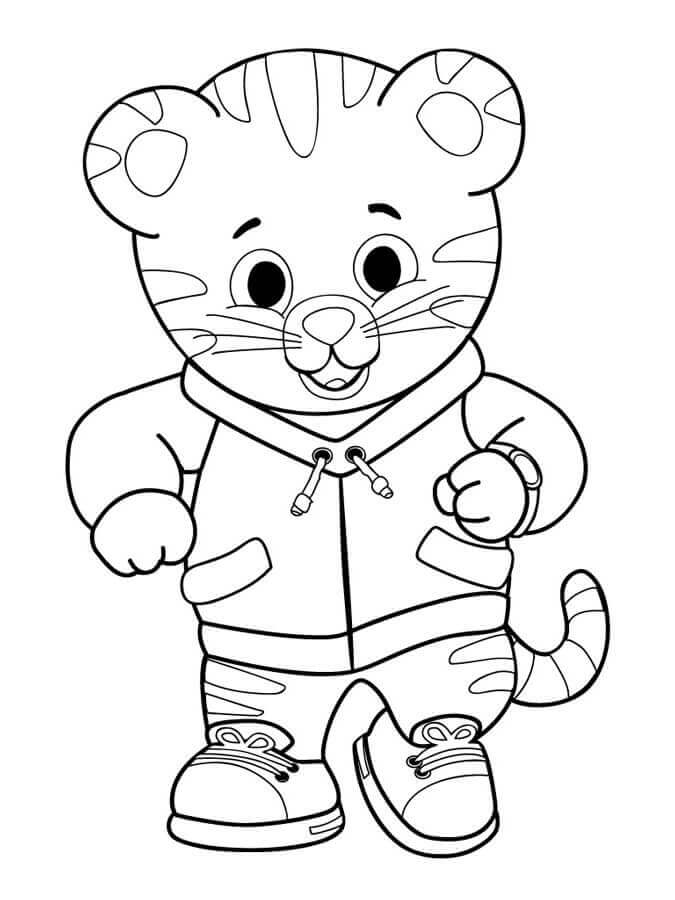 Daniel Tiger Neighbourhood Coloring Lesson Kids Coloring