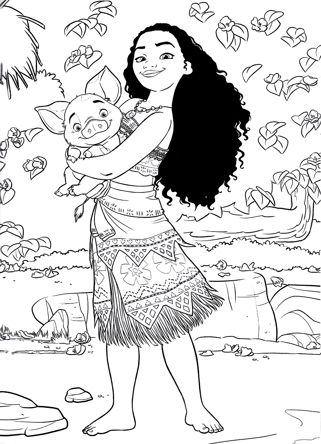 Moana Free Coloring Printable   Coloring Pages for Kids ...