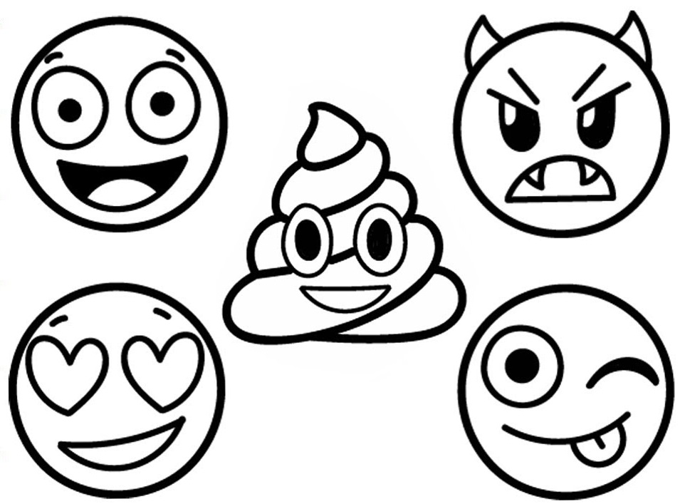 Emoji Coloring Lesson | Coloring Pages for Kids - Coloring ...