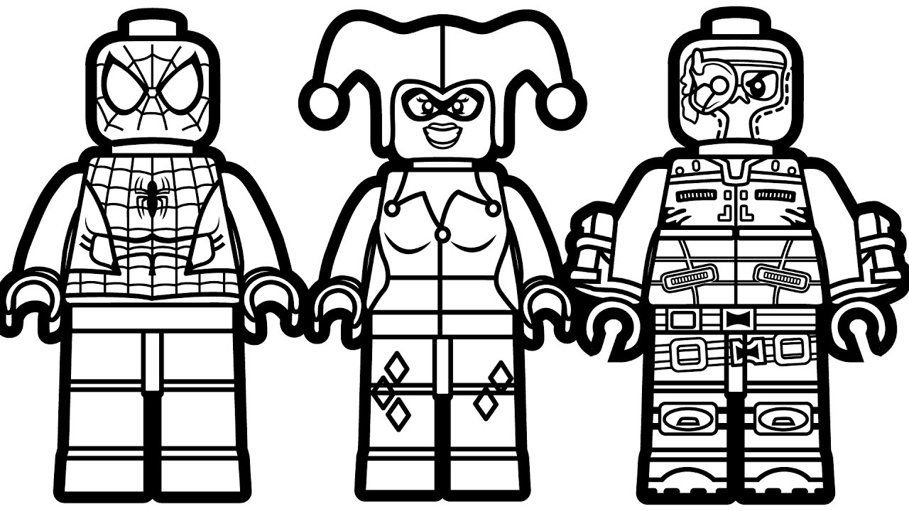 Lego People Coloring Lesson | Coloring Pages for Kids ...