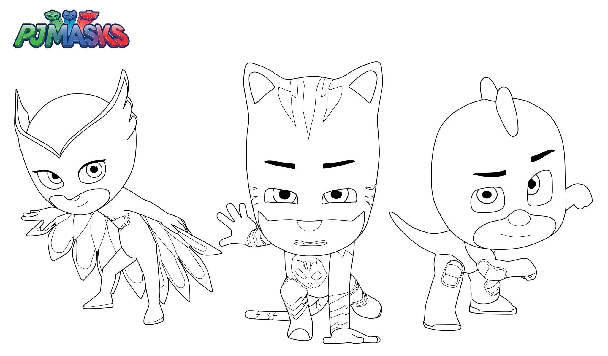 PJ Mask Coloring Lesson   Coloring Pages for Kids ...