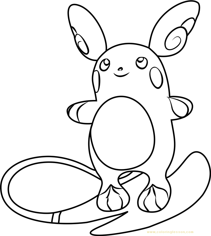 Alola Raichu Pokemon Sun and Moon | Kids Coloring Page ...