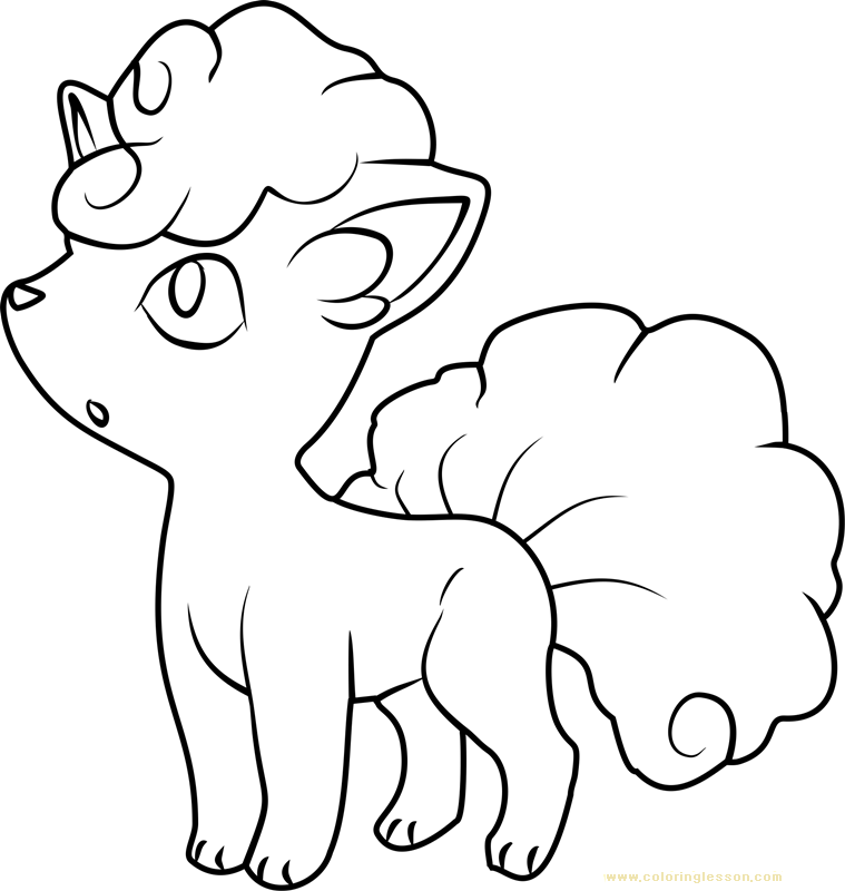 Alola Vulpix Pokemon Sun and Moon | Kids Coloring Page ...