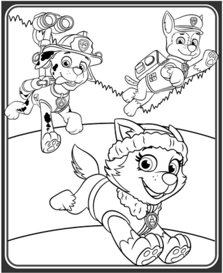 Chase Paw Patrol Coloring Lesson | Kids Coloring Page ...