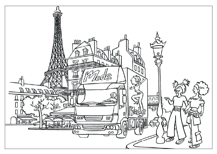 Eiffel Tower Coloring Lesson   Kids Coloring Page ...