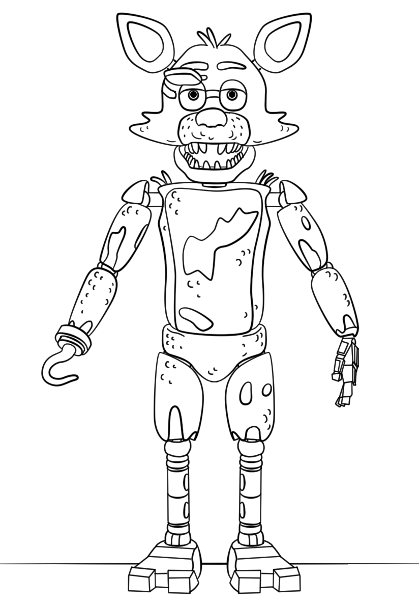 FNAF Foxy Coloring Lesson | Kids Coloring Page - Coloring ...