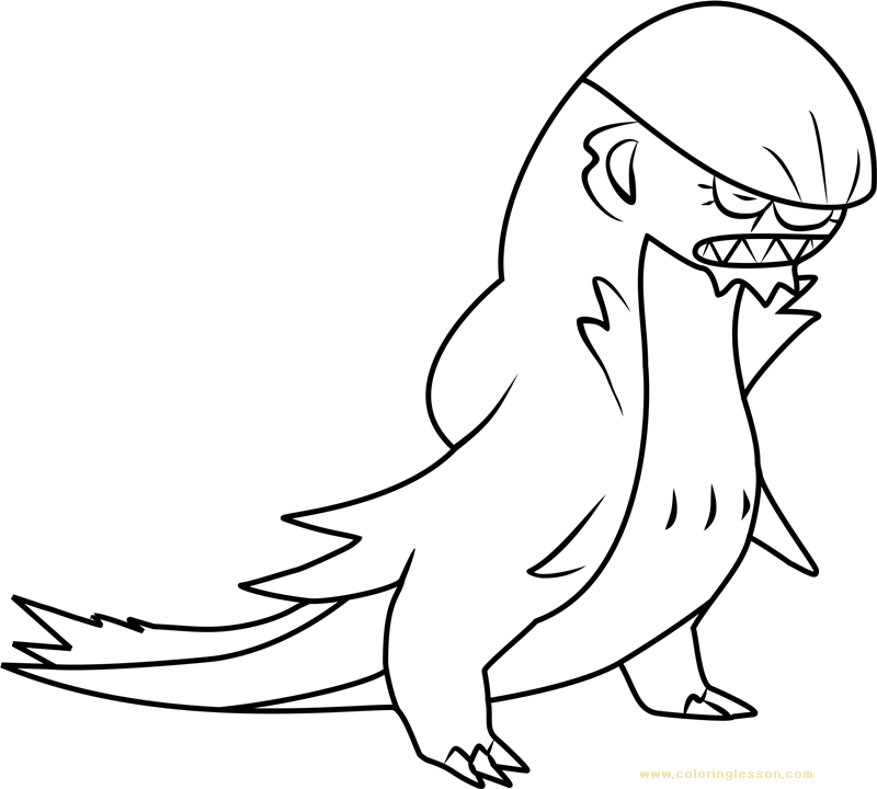 Gumshoos Pokemon Sun and Moon | Kids Coloring Page ...