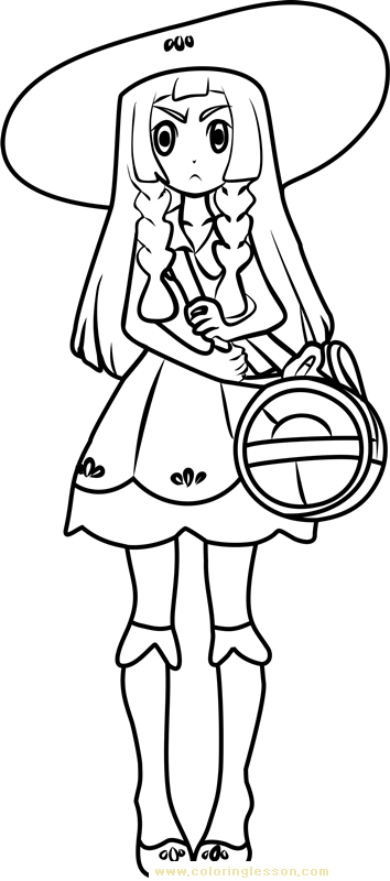 Lillie Pokemon Sun And Moon Kids Coloring Page Coloring Lesson Free Printables And Coloring Pages For Kids