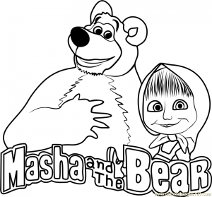 Masha and the Bear Coloring Lesson | Kids Coloring Page ...