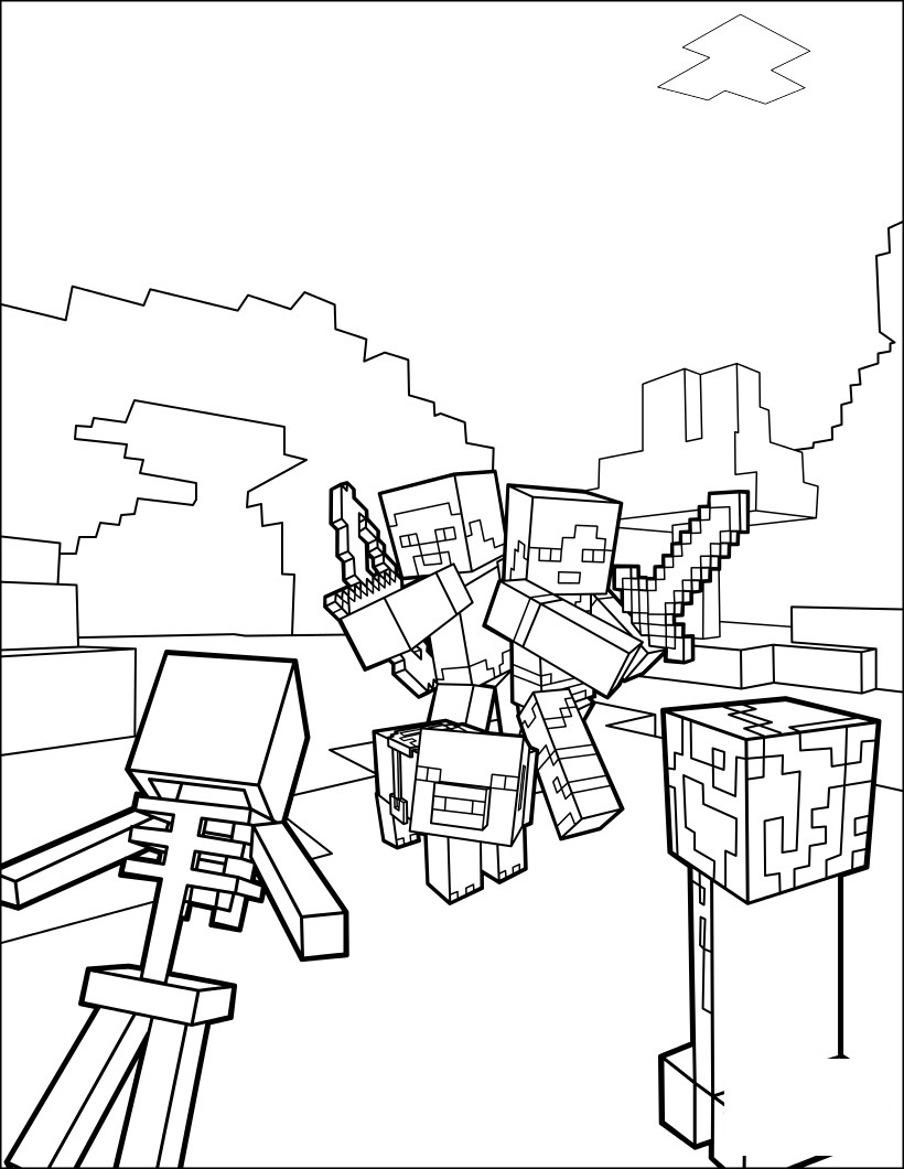 Minecraft Coloring Lesson | Kids Coloring Page - Coloring ...