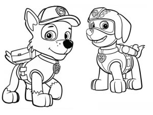 Rocky Paw Patrol Coloring Lesson | Kids Coloring Page ...