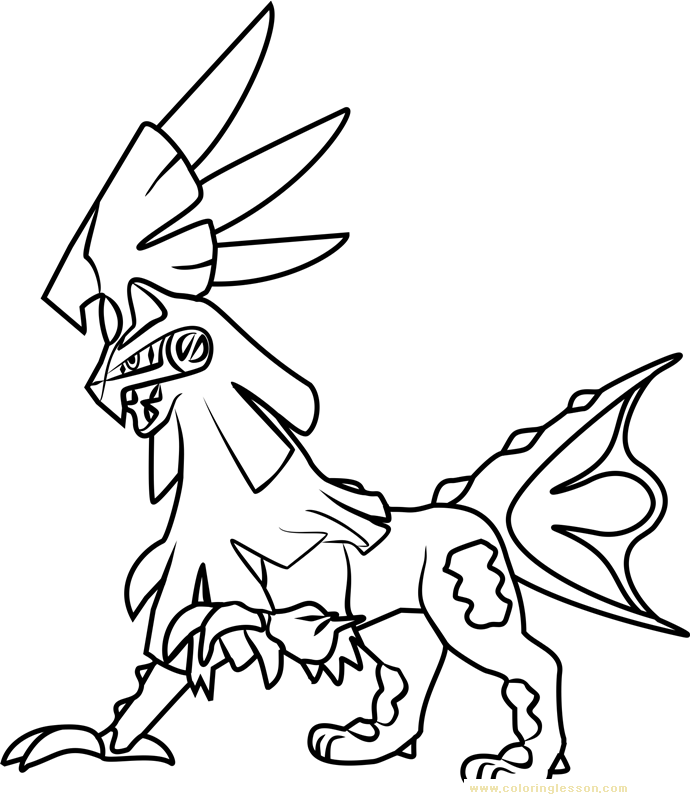 Silvally Pokemon Sun and Moon | Kids Coloring Page ...