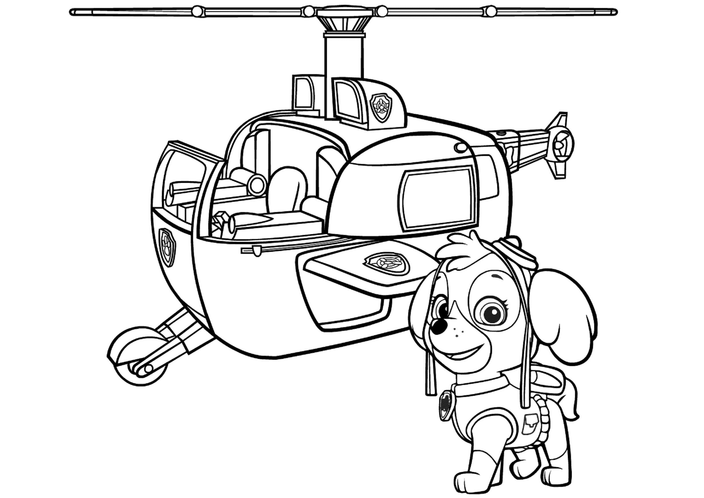skye paw patrol coloring lesson  kids coloring page