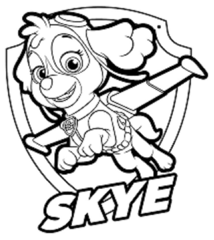 - Skye Paw Patrol Coloring Lesson Kids Coloring Page – Coloring Lesson –  Free Printables And Coloring Pages For Kids
