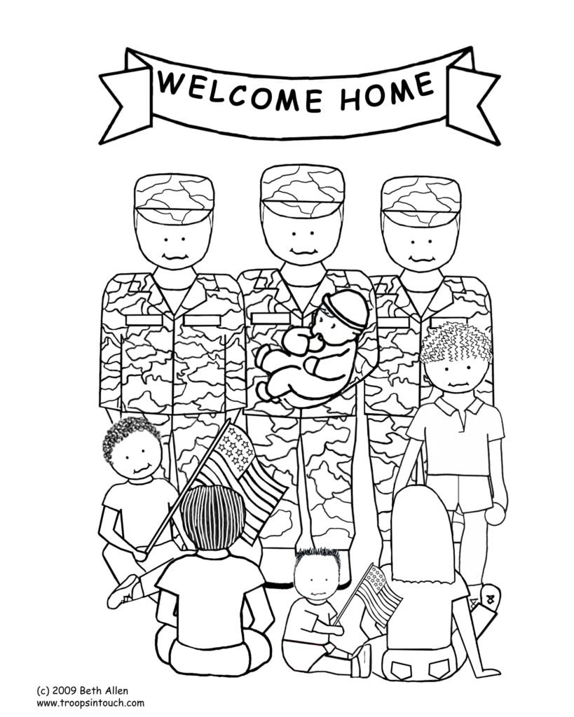 Thank You Veterans Coloring Lesson   Coloring Page for ...