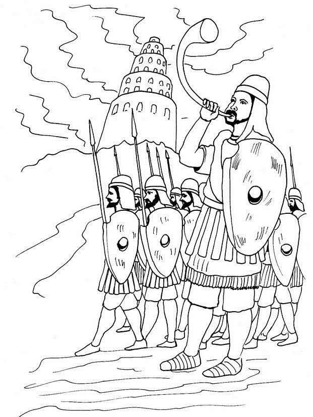 Tower of Babel Coloring Lesson | Kids Coloring Page ...