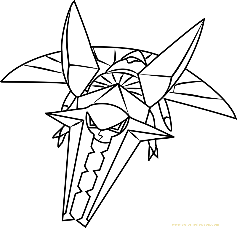 Vikavolt Pokemon Sun And Moon Kids Coloring Page Coloring Lesson Free Printables And Coloring Pages For Kids