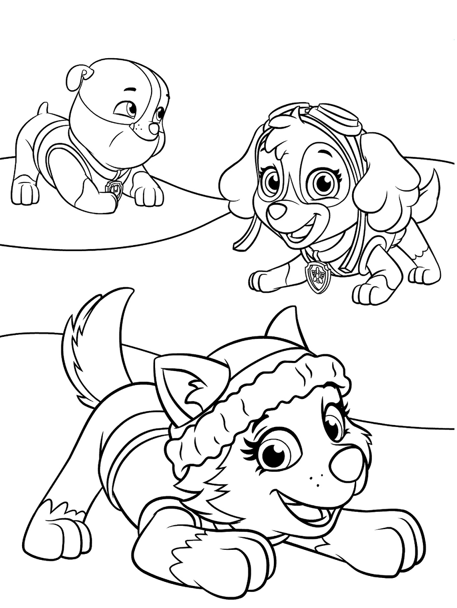 rubble paw patrol coloring lesson  kids coloring page