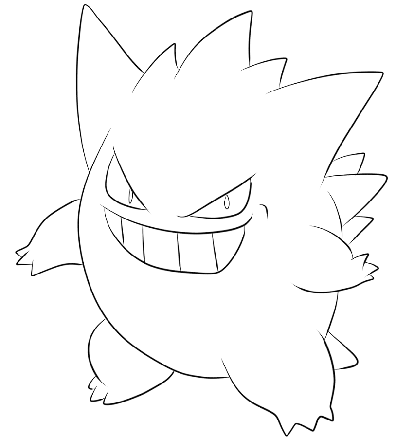 Gengar Pokemon Red, Blue and Yellow Coloring Lesson | Kids ...