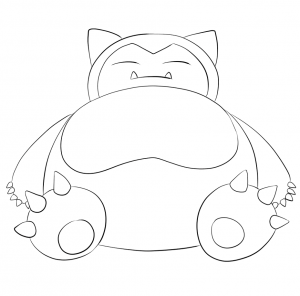 View Printable Snorlax Coloring Page